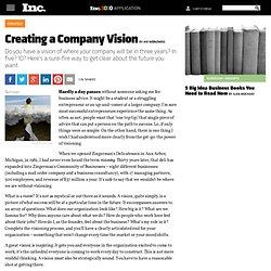 Creating a Company Vision