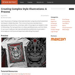 Creating Complex Style Illustrations: A Process