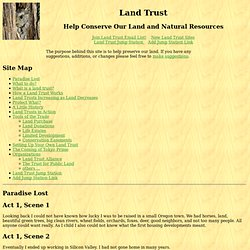Creating Land Trusts: Help Conserve Our Land and Natural Resources