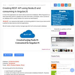 Creating REST API using NodeJS and consuming in AngularJS – AngularCode – AngularJS Projects with Demo and Download
