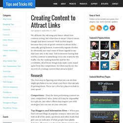 Creating Content to Attract Links