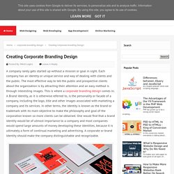 Creating Corporate branding Design - MindLogics Blog