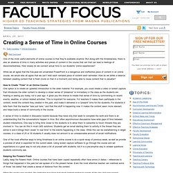 Creating a Sense of Time in Online Courses