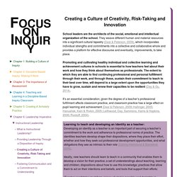 Creating a Culture of Creativity, Risk-Taking and Innovation