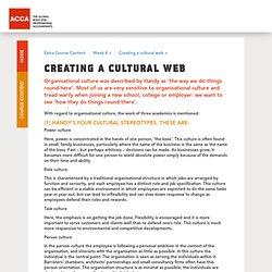 Creating a cultural web