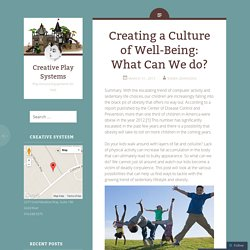 Creating a Culture of Well-Being: What Can We do?