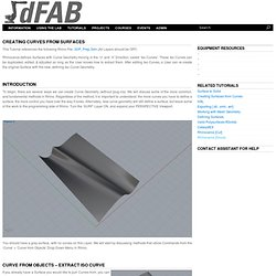 Creating Curves from Surfaces « dFAB