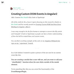 Creating Custom DOM Events in Angular2