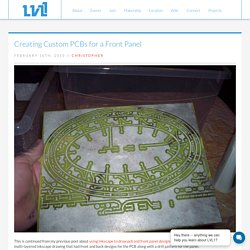 Creating Custom PCBs for a Front Panel - LVL1