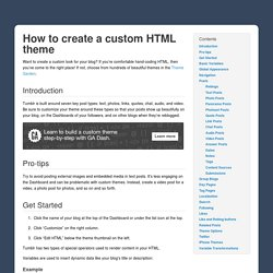 Creating a custom HTML theme