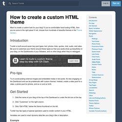Creating a custom HTML theme