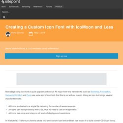 Creating a Custom Icon Font with IcoMoon and Less