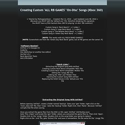 Creating 'ALL RB GAMES' 'On-Disc' Songs