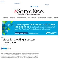 5 steps for creating a custom makerspace