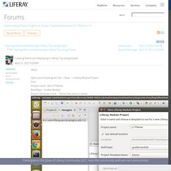 Creating theme and Deploying in liferay 7 by using Eclipse - Community Forums