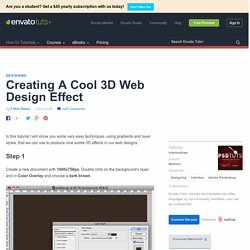 Creating A Cool 3D Web Design Effect