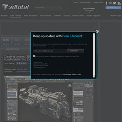 Creating detailed 3D models with Code-Artist's AutoModeller Pro for 3ds Max by 3dtotal staff / 3ds Max Misc tutorial from 3dtotal.com