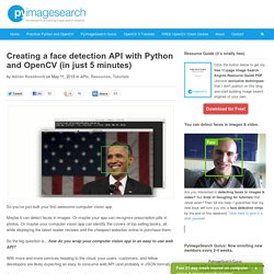 Creating a face detection API with Python and OpenCV (in just 5 minutes)