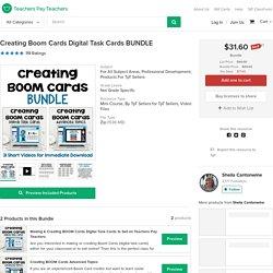 Creating Boom Cards Digital Task Cards BUNDLE by Sheila Cantonwine