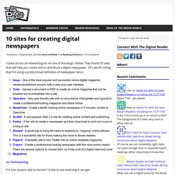 10 sites for creating digital newspapers
