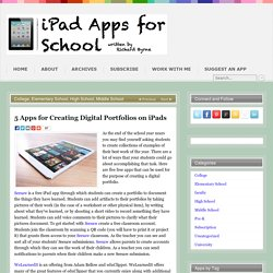 5 Apps for Creating Digital Portfolios on iPads