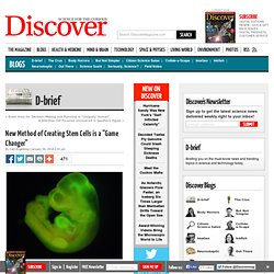 """New Method of Creating Stem Cells is a """"Game Changer"""""""
