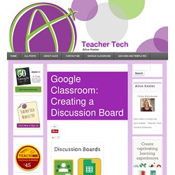 Creating a Discussion Board