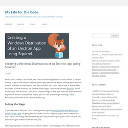 Creating a Windows Distribution of an Electron App using Squirrel