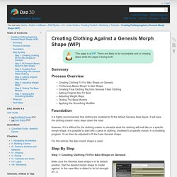 Creating Clothing Against a Genesis Morph Shape (WIP) [Documentation Center]