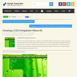 Creating a CSS3 Dropdown Menu #2