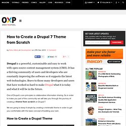 Creating a Drupal 7 Theme from Scratch