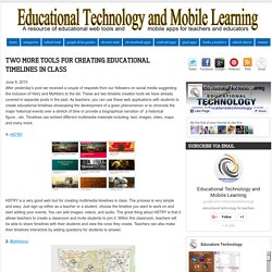 Two More Tools for Creating Educational Timelines in Class