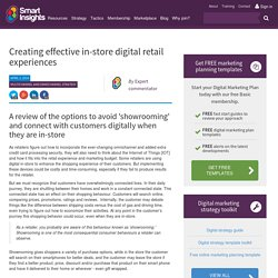 Creating effective in-store digital retail experiences