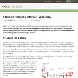 8 Rules for Creating Effective Typography