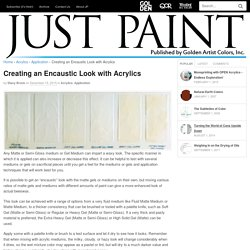 Creating an Encaustic Look with Acrylics