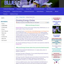 Creating Energy Circles