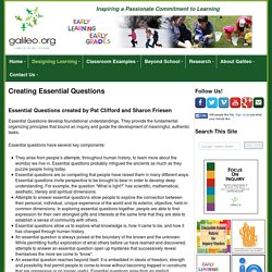 Creating Essential Questions