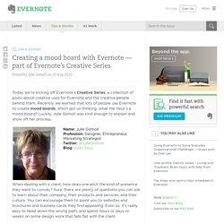 Creating a mood board with Evernote