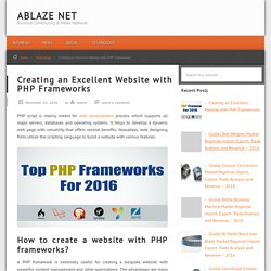 Creating an Excellent Website with PHP Frameworks - Ablaze Net