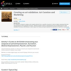 Creating an art exhibition: Art Curation and Marketing Tutorial