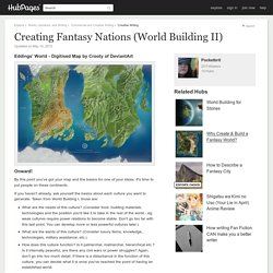 Creating Fantasy Nations (World Building II)