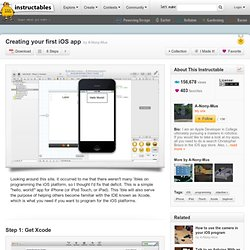 Creating your first iOS app