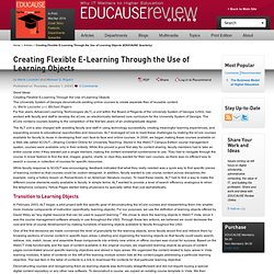 Creating Flexible E-Learning Through the Use of Learning Objects (EDUCAUSE Quarterly)