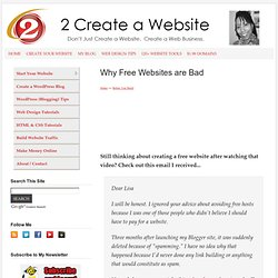 Create a Free Website? Think Twice About It!