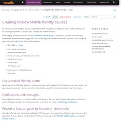 Creating Moodle Mobile friendly courses