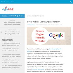 Creating Search Engine Friendly Website