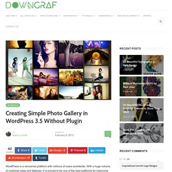 Creating Simple Photo Gallery in WordPress 3.5 Without Plugin