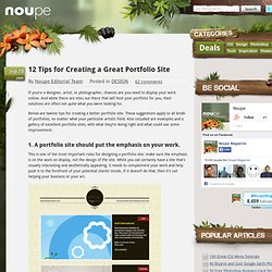 12 Tips for Creating a Great Portfolio Site