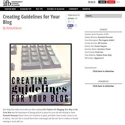 Creating Guidelines for Your Blog