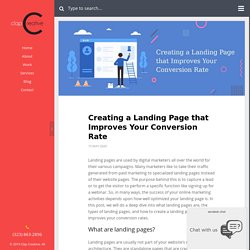 Creating a Landing Page that Improves Your Conversion Rate